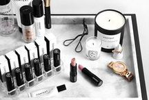 beauty // storage / beauty rooms and vanities full of makeup and beauty products *swoon*