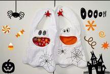 NÄHEN: Halloweentasche / Trick or treat bag / Taschen rund um Halloween Trick or treat bags sewing, nähen, Geistertaschen, Schnittmuster, Nähanleitung, Step by step, sewing instruction, pattern, ghosts