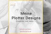 PLOTTER: Meine Designs / Hier stelle ich meine neusten Plotterdateien und die Ergebnisse der Probeplotterinnen vor. Themen: Plottermotiv, Plotten, diy ♥