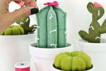INSPIRATION: Kaktus / Kakteen in allen Formen: DIY Ideen zum Zeichnen, Häkeln, Stricken, Sticken, Nähen, Basteln, kleben und stecken. Nadelkissen, Steine, Objekte, Deko, Diy oder zum Spielen und Kuscheln.