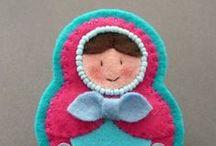 Matrioshka / Matrioshka en couture, crochet, feutre