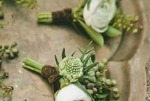 BOUQUETS / BOUTONNIERE / BRIDESMAIDS / GROOMSMEN / by Stefy Alb