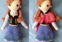 Poupées au crochet.  Crochet dolls