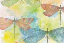 Dragonflies, buttons and bows