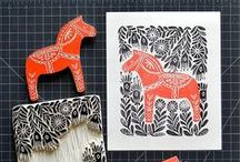 Printmaking / General printmaking research and inspiration for our Printmaking at Home classes on Skillshare.  Printmaking at Home: Creating Linocut Patterns: http://skl.sh/2dJelj2  Printmaking at Home: Creating Linocut Wrapping Paper & Gift Tags: http://skl.sh/2f1CteW
