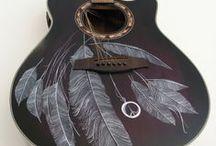 Hand painted guitars / Handbemalte Gitarren
