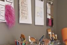 Art Studio / A place to be messy, a place to call your own, a place to let your creativity run wild.