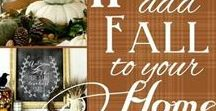 Fall Decorating Ideas / Indoor and Outdoor Fall Decorating Ideas