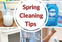 Spring Cleaning / Spring cleaning tips, routines and printables, cheat sheets, chore charts, cleaning schedules, cleaning recources