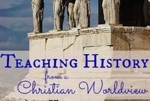 Teaching History in Homeschool / How to teach history in homeschooling. Teaching history ideas & activities.