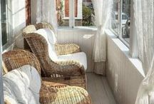 Porches, Decks, Outdoor Spaces / Pretty outdoor space Inspiration