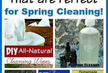 Homemade Cleaning Recipes / Homemade Cleaner Recipes - Natural Cleaners - Make Your Own Cleaners - Homemade Detergent Recipes