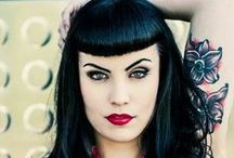 Bettie Bangs / Beautiful girls with black hair and bettie bangs!