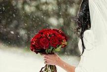 Winter wedding / Something blue for stylish brides