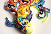 Quilling 3D / Filigrana de papel en 3D / by Rosa Romero