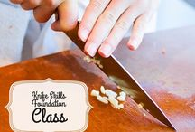 knife skills I / This is probably one of the most important classes you will take to get you into cooking!   Join us next on Tuesday August 18th, 2015 and Tuesday September 1st, 2015 to learn how to master knife skills!   Learn more or sign up at: www.kitchentablegv.com