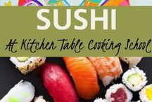 roll your own sushi / want to learn from our professional Chefs - how to make sushi at home? This is one of our popular classes! Sushi is not just fun to make and delicious to eat but, a healthy choice!   Join us for a fun evening of sushi making in our hands on class!   learn more, or sign up at: www.kitchentablegv.com