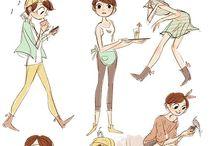 ART дизайн персонажей / Помощь в придумывании прически, одежды и других особенностей персонажей.
