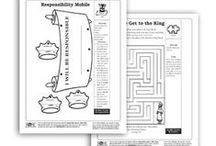 Bible Coloring Sheets! / Keep your little wiggly ones busy with some fun coloring sheets they can doodle on while meditating on Bible stories, Scriptures, and wisdom from God's Word!