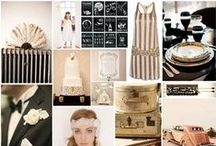 1930's Art Deco Weddings / Art deco wedding theming.  Inspiration from the 1920's and 30's
