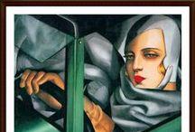 TAMARA DE LEMPICKA / Tamara de Lempicka o Tamara Łempicka (pronunciado Uempitsca), nacida Maria Górska, (Varsovia, Polonia, 16 de mayo de 1898 - Cuernavaca, México, 18 de marzo de 1980) fue una pintora polaca que destacó por la belleza de sus retratos femeninos y desnudos, de pleno estilo art decó.