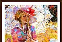 ALEX LASHKEVICH / El impresionismo está vivo con artistas de la talla de Alex. El aprovechamiento de la técnica de pinceladas y el arte clásico de exhibir hermosas ilustraciones que representan las mujeres con estilo en los escenarios de siglos pasados.  La transición suave de la piel de sus personajes de un plano a otro, evoca las técnicas de aerografía, mientras que mantiene la pincelada áspera, rápida y orientada al movimiento, comúnmente asociada con el impresionismo al representar la ropa y telones de fondo.