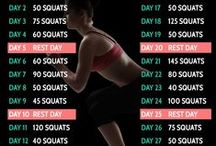 30 Day Fitness Challenges / 30 Day challenges to get you stoked about fitness! #30day #30daychallenge #athomefitness
