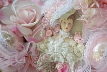 SHABBY CHIC LACE & FABRIC - 4 / Shabby Chic & Vintage Art