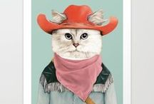 Cats / Collection of cool art print, merchandise, and home decor for cat lovers.