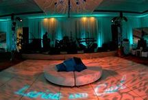 Wedding Lighting / Enhanced Lighting provides lighting, drapery, av, sound and production support.   We work with our event planners, event designer and brides to bring their visions to reality.