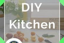 DIY Kitchen / The best DIY kitchen ideas for remodeling, for small spaces, or for your apartment. Don't miss these awesome tips and tricks for a rustic country farmhouse style kitchen on a budget! Thinking of updating your kitchen backsplash? Turn your dark cabinets white with these clever and modern interior hacks. Go the traditional route with these simple open kitchen layouts. How to go from shabby chic to contemporary and design on a dime with these incredibly inexpensive DIY tips and projects.