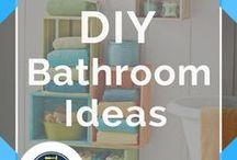 DIY Bathroom Ideas / DIY Bathroom Ideas for Do It Yourself Bathroom Projects, Decor and DIY Bath Furniture. Simple Solutions to get the bathroom of your dreams.