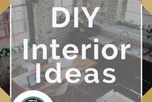 DIY Interior Ideas / DIY Interior Ideas for beautiful home decor, homemade furniture ideas, paint tips and beautiful homes.
