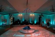 Ritz Carlton Halfmoon Bay - Wedding Lighting - Drapery - Custom Gobo / The Ritz Carlton, Halfmoon Bay is a stunning venue located on the break taking coast of Halfmoon Bay California.  Enhanced Lighting has had the privilege to transform the venue for many beautiful weddings and social events.   Enhanced has fully draped, carpeted, lit, hung chandeliers, lanterns, custom lighting fixtures and much more.