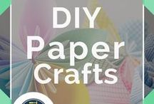 Paper Crafts / DIY paper crafts and homemade paper craft projects. Easy to follow how-to-guides for awesome gifts and accessories from new or recycled paper.