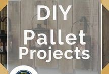 Pallet Projects / Awesome DIY instructions for making simple pallet furniture. How to make DIY home decor, easy outdoor garden projects, and simple wooden signs. Tips and tricks for do it yourself bedroom wall shelves, ideas for painted pallets, cool and fun art decoration and installations and more from DIY Ready.