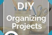 DIY Organiser / All the best organization DIY ideas for your bathroom, closet, apartment, college small spaces, home, kitchen and even your bathroom! Check out these awesome DIY projects for helping keep school supplies like your binder and planner organized and ready! Deck out your office desk with these cheap and easy storage ideas on a budget. Keep things stored and ready for use with these time saving tips by DIY Ready