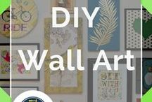 DIY Wall Art / DIY Wall Art Projects for homemade art and home decor