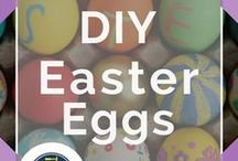 Easter Eggs / All the best easter egg decorating DIY projects, for kids, for toddlers, designs, printable, decoupage, and more! Don't miss these beautiful and creative ideas with chocolate, string, yarn, for toddlers, painted eggs, with glitter, kool aid dying techniques and other awesome craft projects to try at home brought to you by DIY Ready.