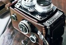 + cameras & accessories + / A lovely collection of antique, vintage and modern cameras. Some inspiration for photos featuring these cameras and some accessories like camera straps or bags.