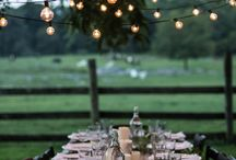 + summer gatherings + / Inspiration for dinner parties and gatherings in beautiful outdoor settings, featuring natural table decorations, candles, lights and linens.