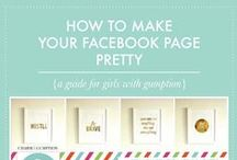 Facebook tips for bloggers / All things Facebook:  From perfect sizes for cover photos, to getting more social shares on your content!