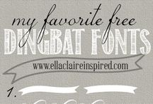 Free dingbat fonts / Free dingbat fonts to adorn your designs and look lovely in blog posts