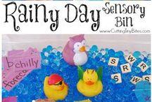 Sensory Play / Sensory bins / trays and sensory play ideas for kids.