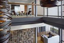 FORGE: Stacy and Witbeck / #OfficeBuilding #Alameda #GroundUpConstruction # Architecture #InteriorDesign #CorporateInteriorDesign #WarmBrick #DarkBronze #Sunshades #WoodPanels #Atrium #BreakRoom #CorporateKitchen #Lobby #CollaborationArea #FeatureStair #ExposedColumns #PolishedConcrete #LEEDPlatinum #SustainableArchitecture #EnvironmentallyFriendlyBuilding