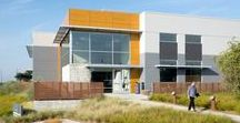 FORGE: VFO Campus / A sustainably designed waterfront office campus for VF Outdoor in Alameda, California of 5 buildings including an amenity building with fitness center, cafe, and training space for new employees.