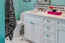 Aqua bathroom ideas  / I am getting ready to paint my bathroom aqua.