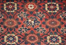 Before and after restoration by our restoreres / Antique Persian Bidjar before and after restoration