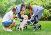 Parents of twins / Auch für Familien mit zwei Kindern bietet ABC Design den passenden Wagen an. | ABC Design also has the right pushchair for families with two infants.