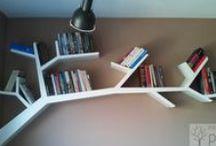 Półka gałąź / branch / Półki które wykonałem na zamowienie, wzorowałem sie na projekcje pewnego designera. Materiał to płyty kartonowo gipsowe, całosc w sposób niewidoczny wisi na ścianie.